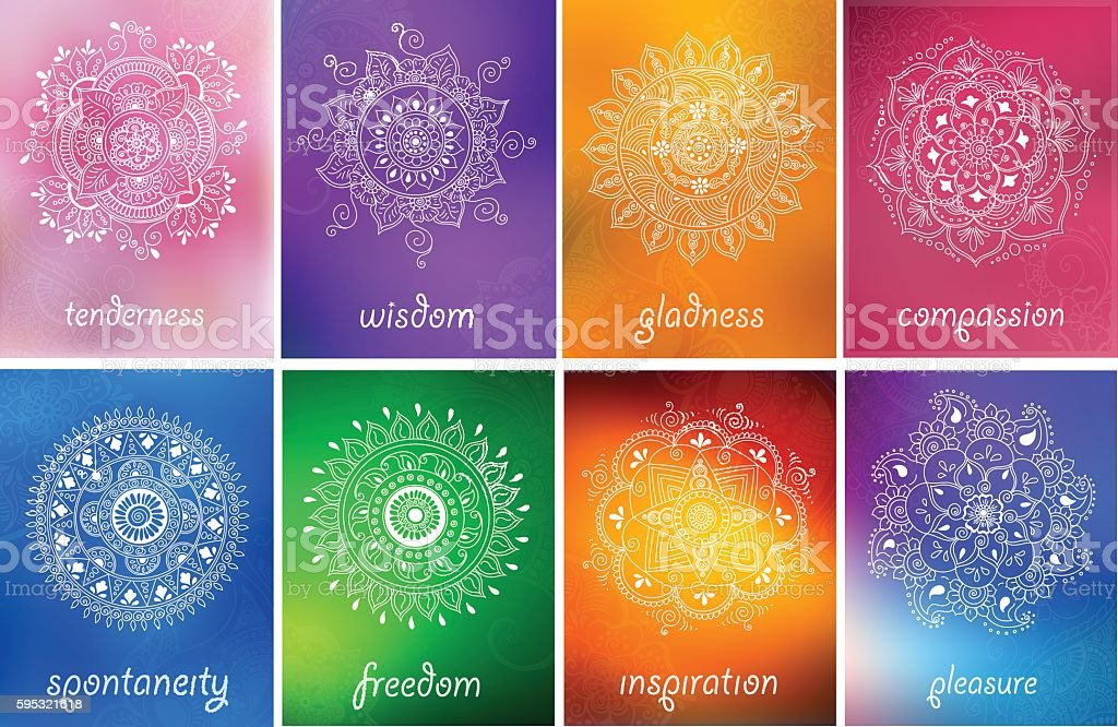 abstract vector pattern of a tattoo henna vector art illustration