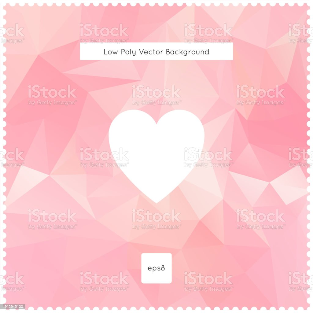 Abstract vector pink polygonal background vector art illustration