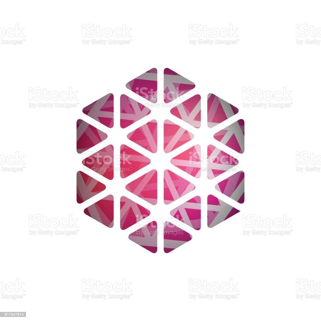 Abstract vector polygonal shape. Abstract Modern Geometrical Design Template. vector art illustration