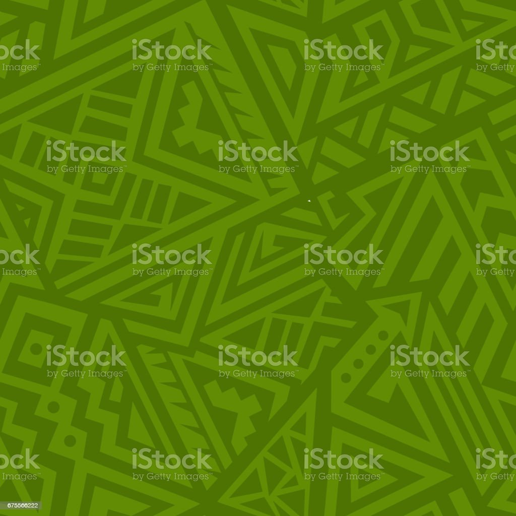 Abstract Vector Seamless Pattern in Ethnic Style vector art illustration