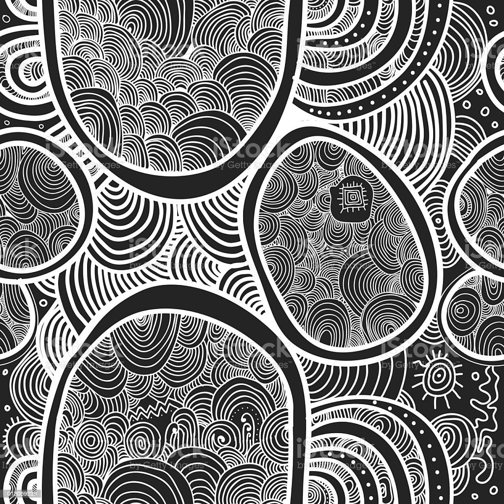 Abstract vector seamless texture. Wallpaper, backgrounds, decoration, fabric vector art illustration
