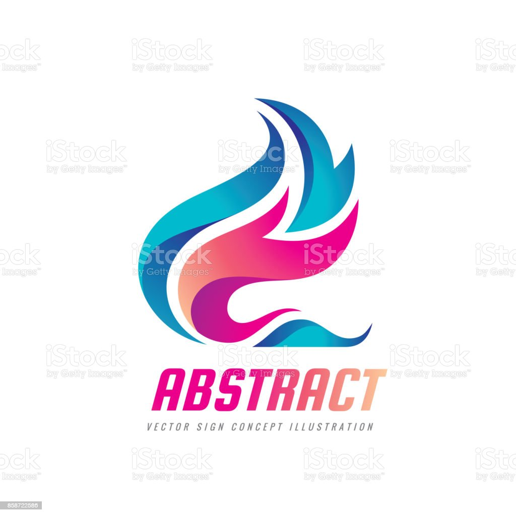 Abstract Vector Sign Template Concept Illustration Blue