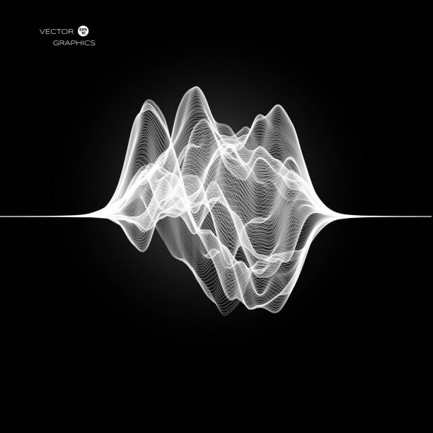 abstract vector signal wave - sound wave stock illustrations, clip art, cartoons, & icons