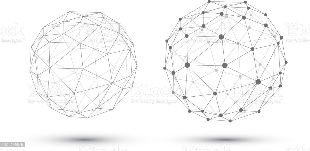 Abstract vector sphere. vector art illustration