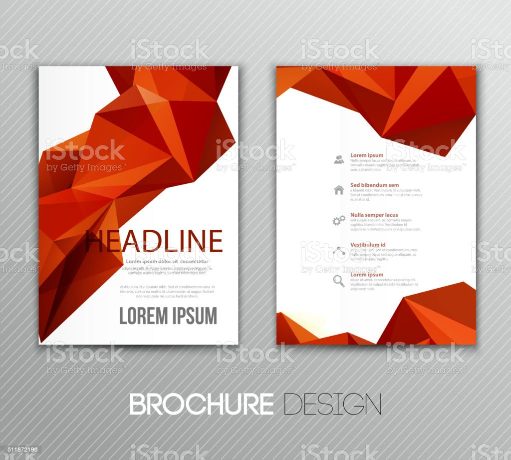 Abstract vector template design, brochure,  page, leaflet, with colorful geometric vector art illustration