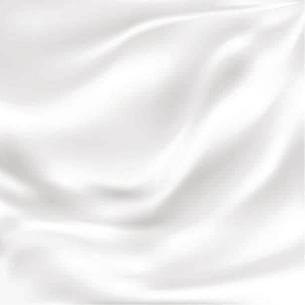 stockillustraties, clipart, cartoons en iconen met abstract vector texture, white silk - zijde