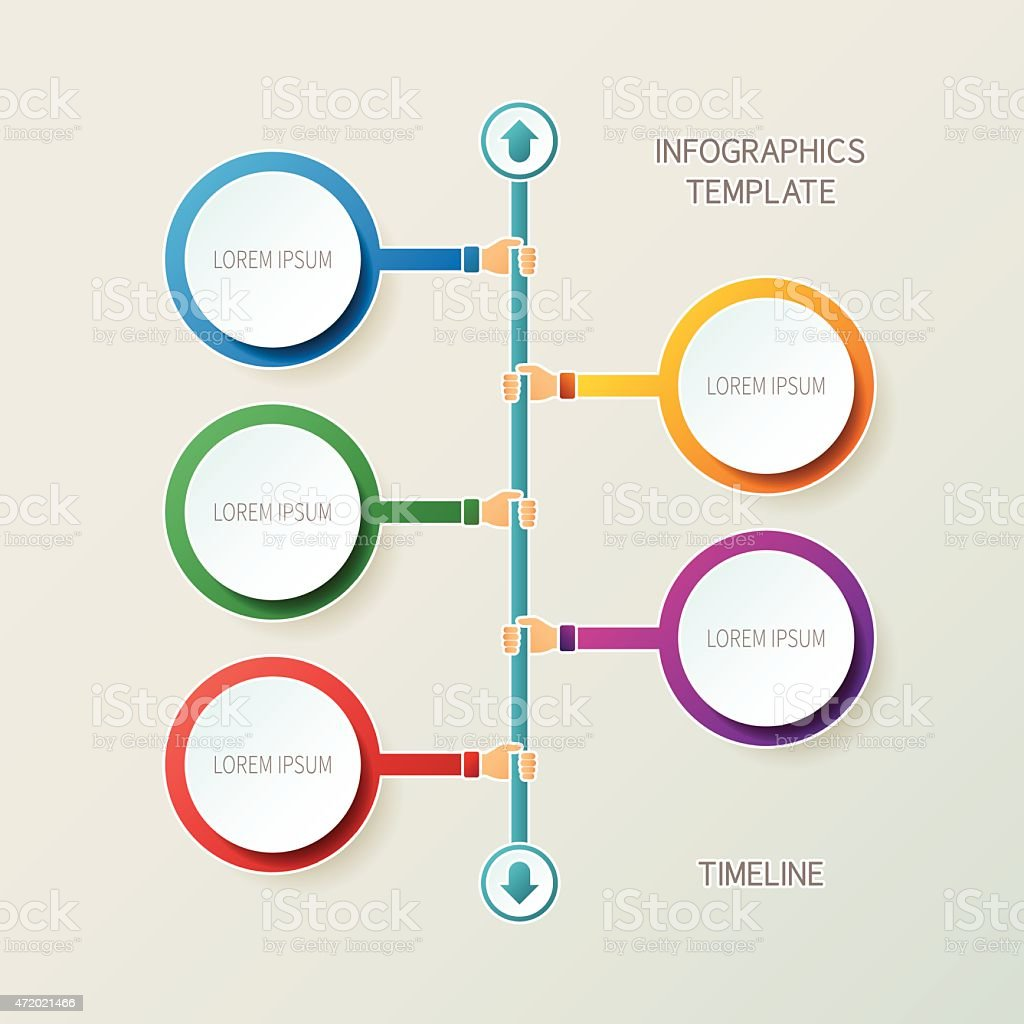 Abstract Vector Timeline Infographic Template In D Style Stock - Timeline infographic template