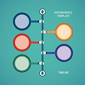 Abstract vector timeline infographic template
