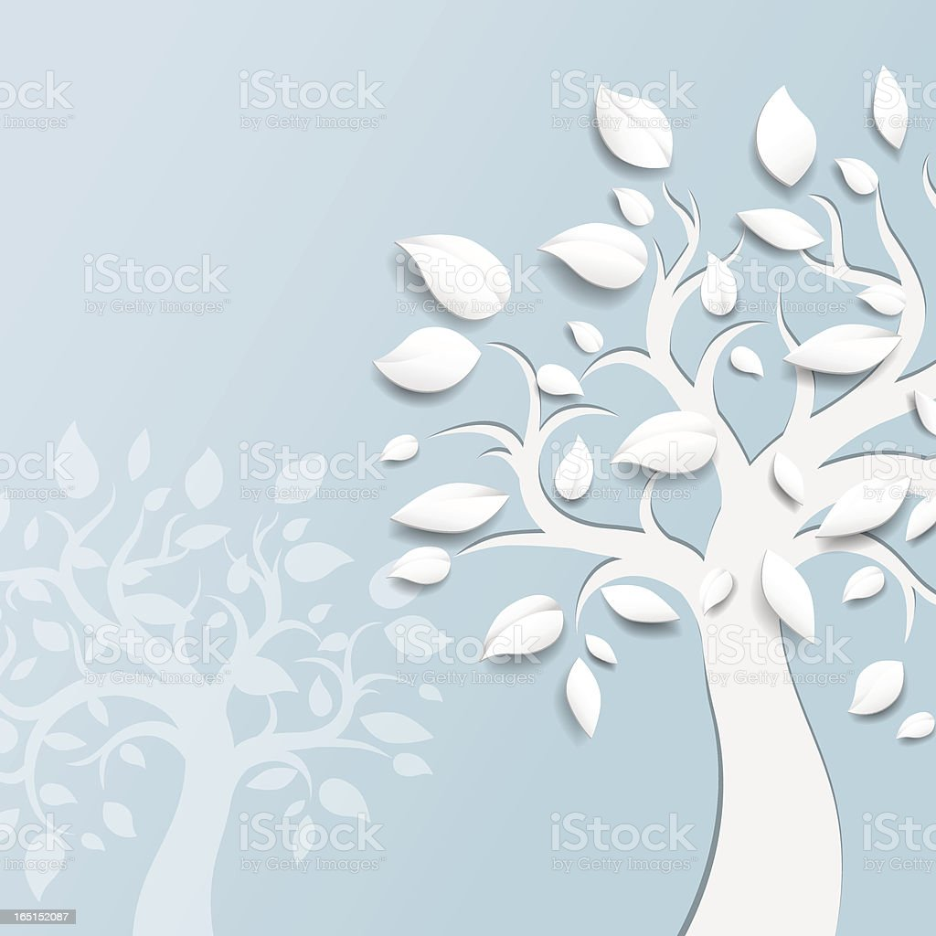 Abstract vector trees royalty-free stock vector art