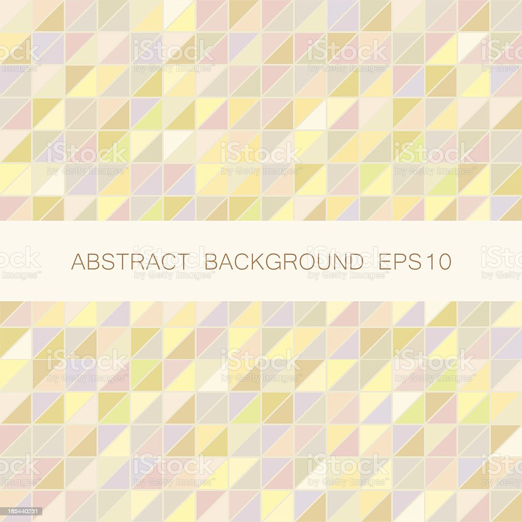 Abstract vector triangle mosaic background royalty-free stock vector art