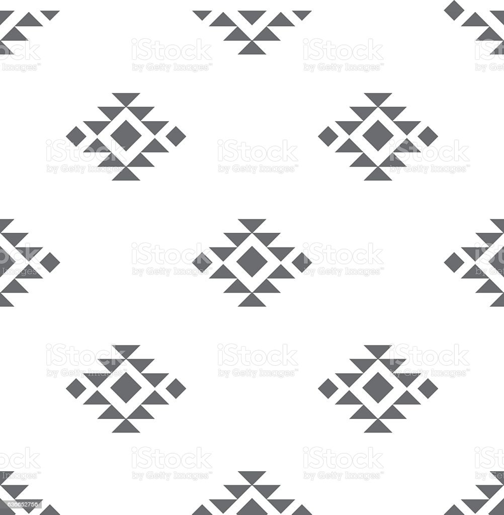 Abstract vector tribal ethnic background pattern. - ilustración de arte vectorial