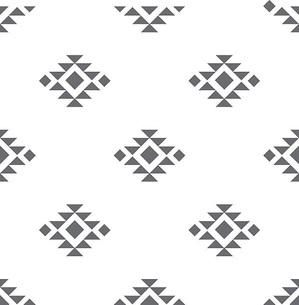 Abstract vector tribal ethnic background pattern. vector art illustration