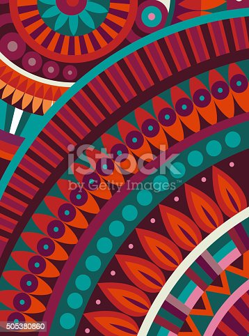 istock Abstract vector tribal ethnic background 505380860