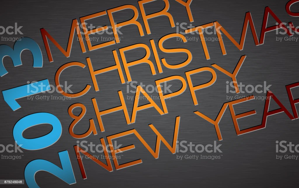 Abstract vector typography Christmas card vector art illustration
