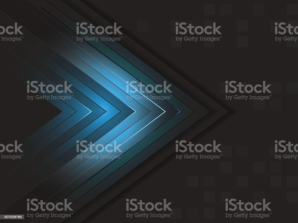 Abstract vector wallpaper with shiny arrow and square pattern. vector art illustration