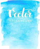 Abstract vector watercolor background. Blue spot on white. RGB. Eps8. Global colors