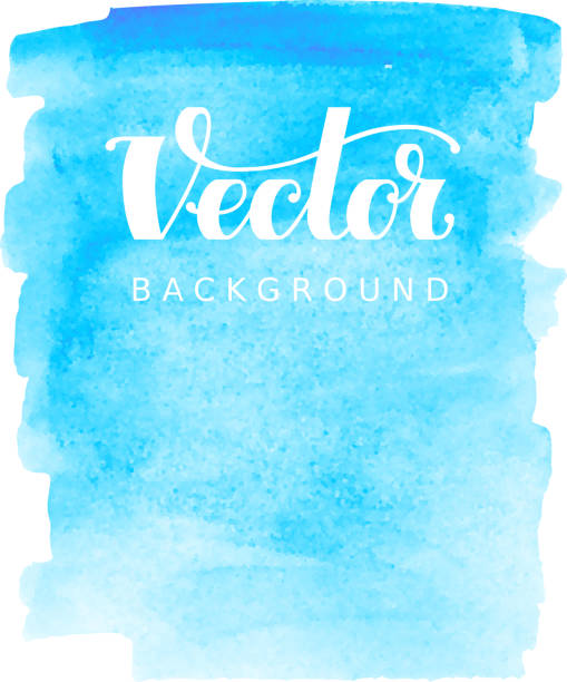 Abstract vector watercolor background. Blue spot on white Abstract vector watercolor background. Blue spot on white. RGB. Eps8. Global colors watercolor background stock illustrations