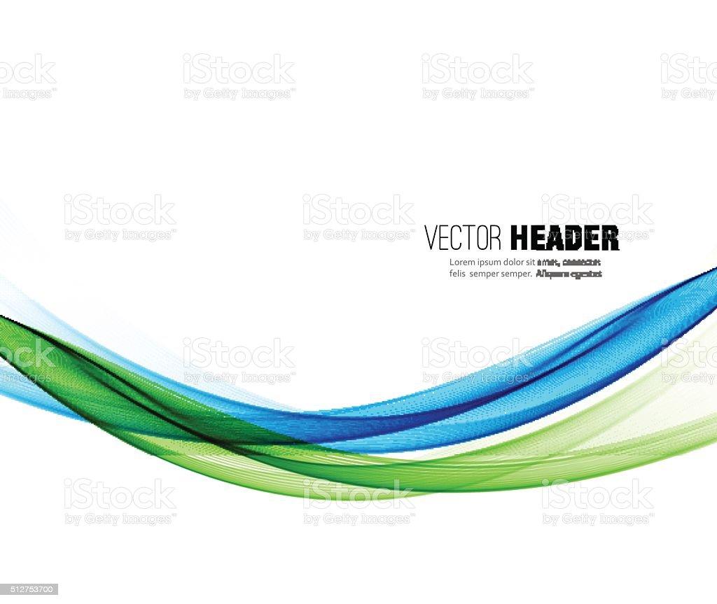 Abstrakte Vektor-Wellen-Hintergrund. Blauer Rauch Linie – Vektorgrafik