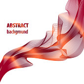 Abstract vector wave pattern bordo, red, orange. Square background. Tech layout for book, brochure, magazine covers. Artistic template for invitations, posters, leaflets, flyers, portfolio, web pages, booklets. Vector EPS10