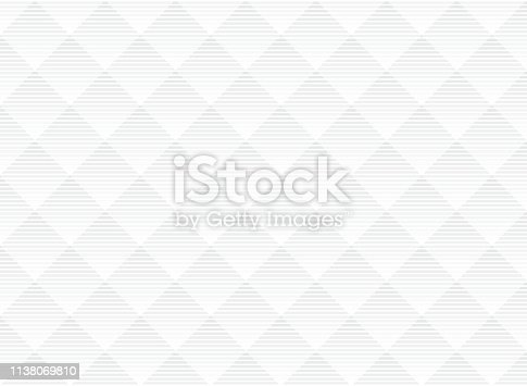 Abstract vector white and gray subtle lattice pattern background. Modern style with monochrome trellis. Repeat geometric grid. Vector illustration