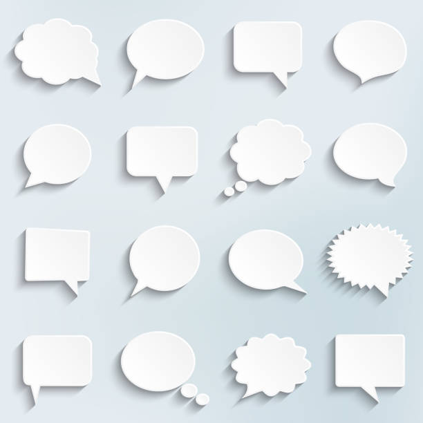 Abstraktes Vektor weißen Sprechblasen Satz – Vektorgrafik