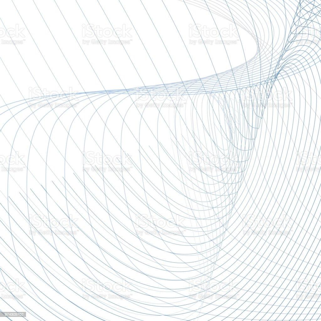 Ilustración de Vector Abstracto Ondas Ondulación Fondo Técnico ...