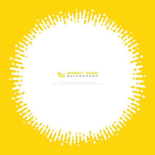 bildbanksillustrationer, clip art samt tecknat material och ikoner med abstrakt vektor gul färg rand linje cirkel täcka dekoration design. illustration vektor eps10 - gul bakgrund