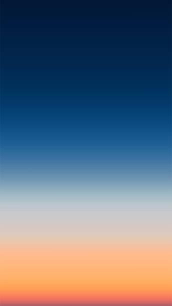海の上の日の出勾配メッシュの抽象的な垂直空中パノラマビュー。空と水だけだ美しい穏やかなシーン。ベクトルイラスト - 夜明け点のイラスト素材/クリップアート素材/マンガ素材/アイコン素材