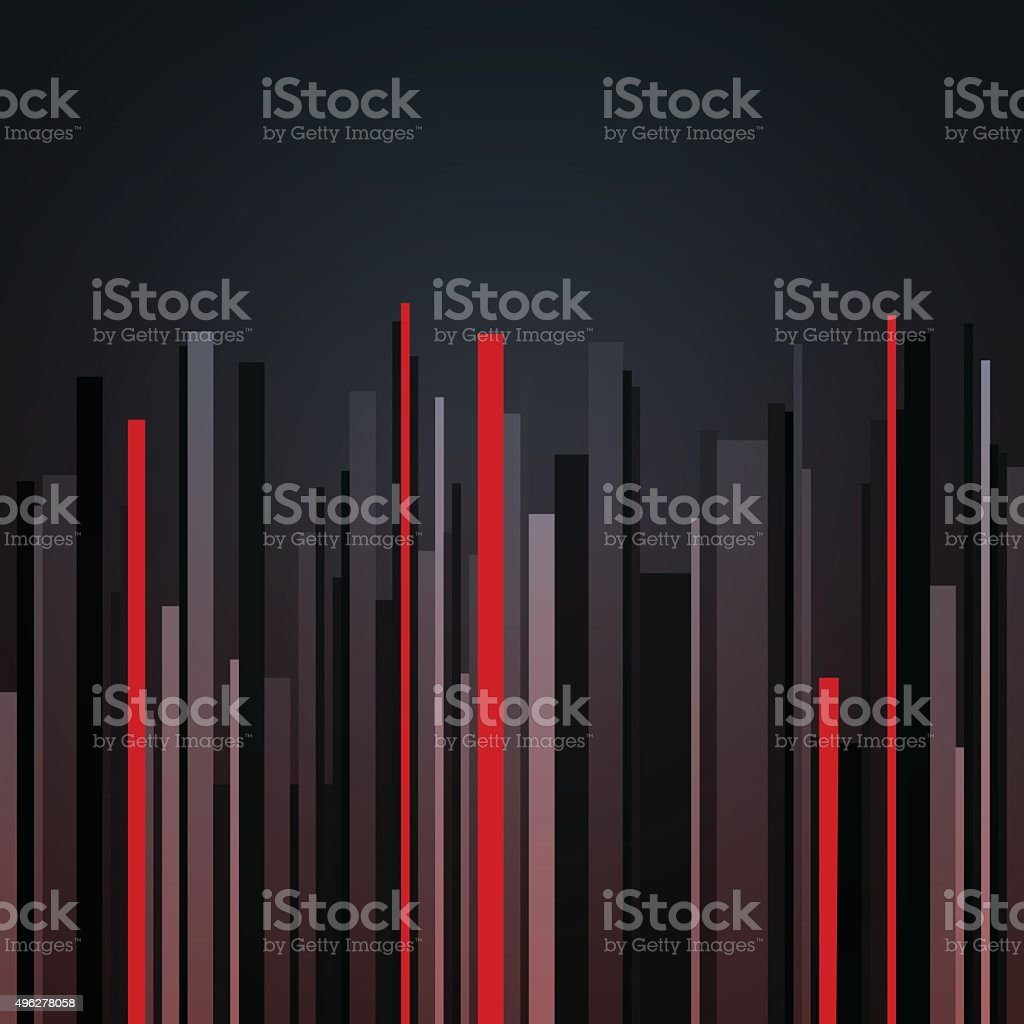 Abstract vertical infographics gray, black and red stripes background vector art illustration