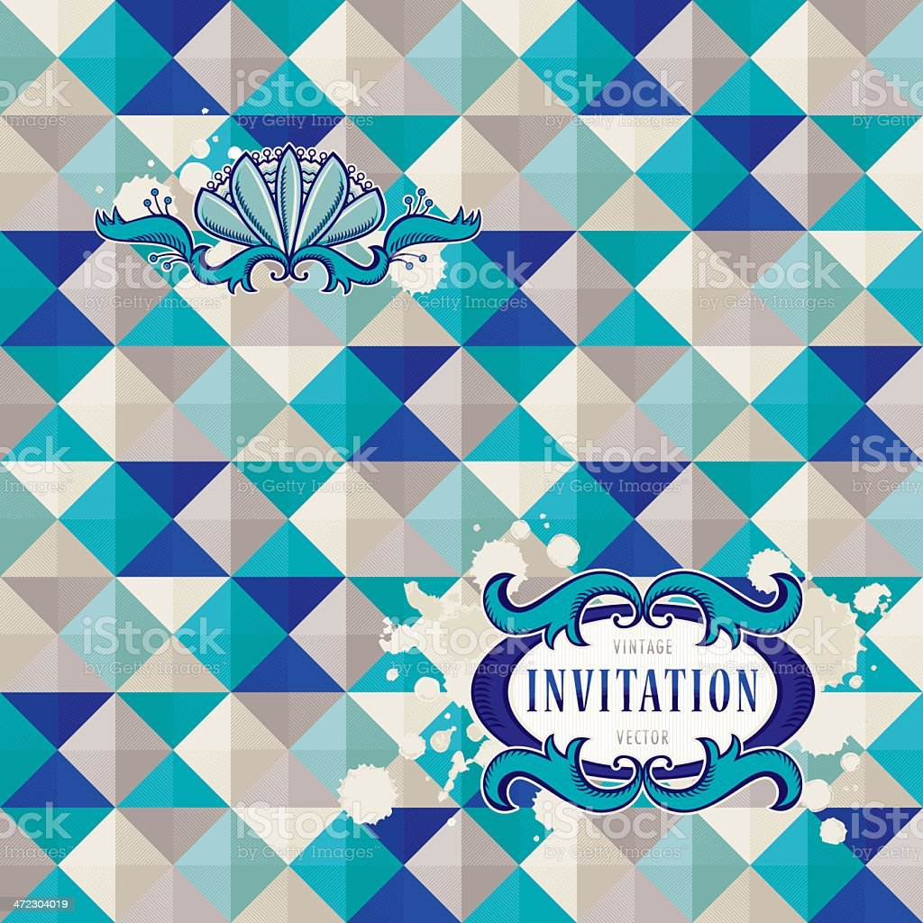 Abstract Vintage Background royalty-free stock vector art