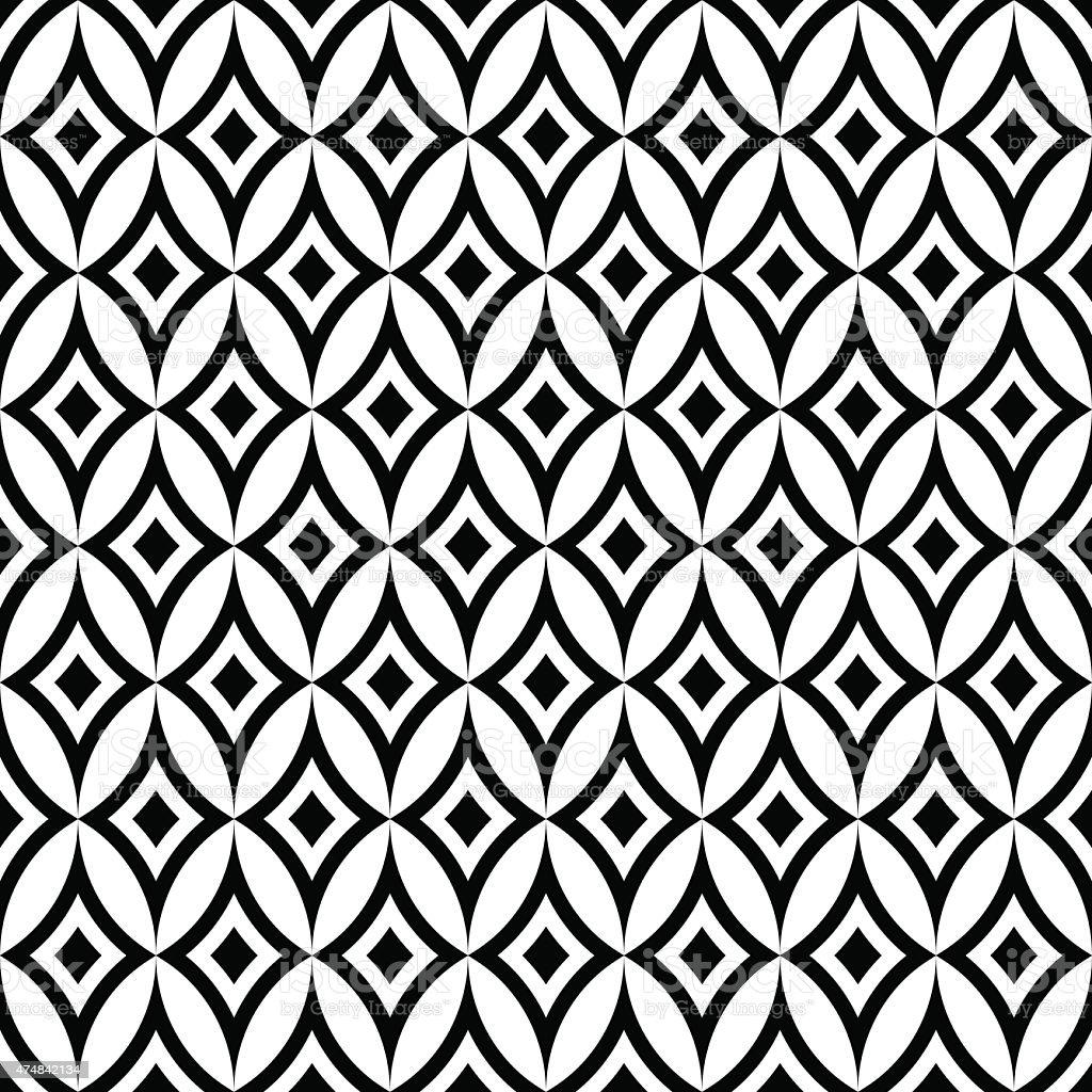 Abstrait motif géométrique sans couture papier peint vintage fond - Illustration vectorielle