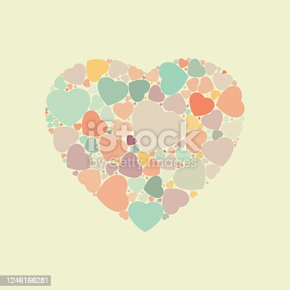 Abstract vintage heart background. EPS 8 vector file included