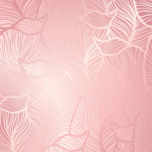抽象的なビンテージ シームレスなダマスク。ローズゴールド - ピンク色点のイラスト素材/クリップアート素材/マンガ素材/アイコン素材