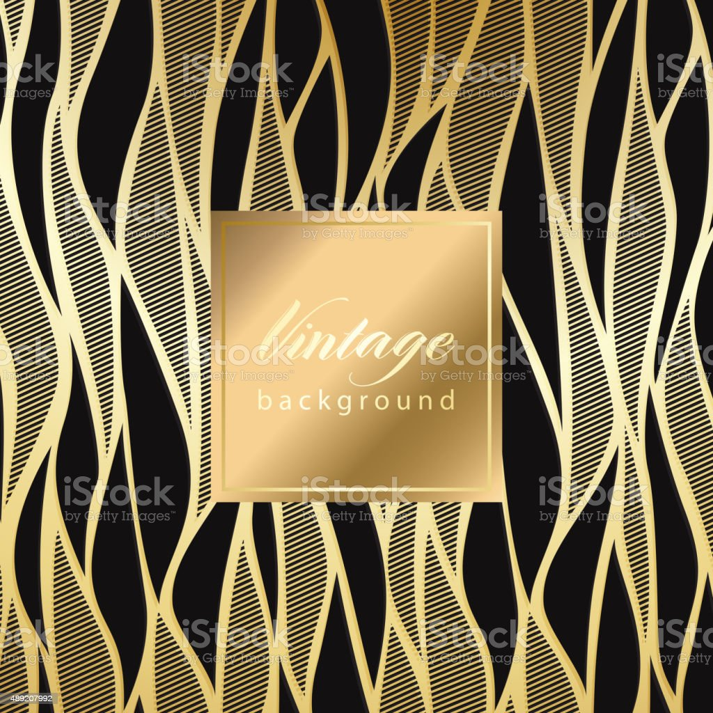 Motif abstrait sans couture vintage damassé - Illustration vectorielle