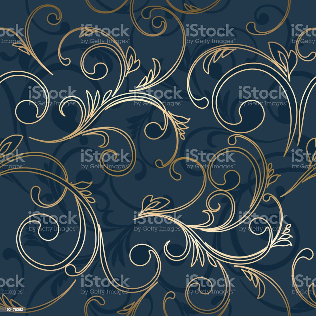 ヴィンテージのシームレスな抽象的なダマスク織パターン ベクターアートイラスト