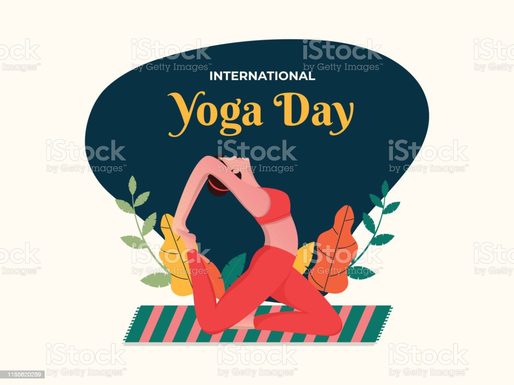 Abstract Vintage Style Poster Or Banner Design For International Yoga Day Celebration Stock Illustration Download Image Now Istock