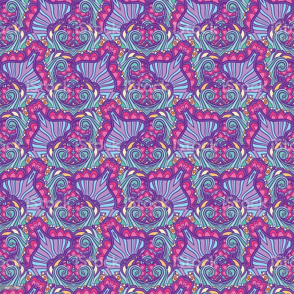 Abstract violet wavy pattern vector art illustration