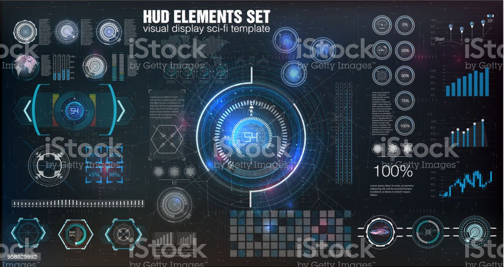 Hud Ui Abstract Virtual Graphic Touch User Interface