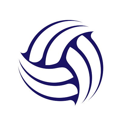 Abstract volleyball symbol