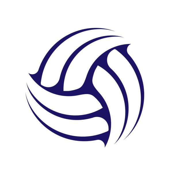 ilustrações, clipart, desenhos animados e ícones de símbolo abstrato do voleibol - voleibol