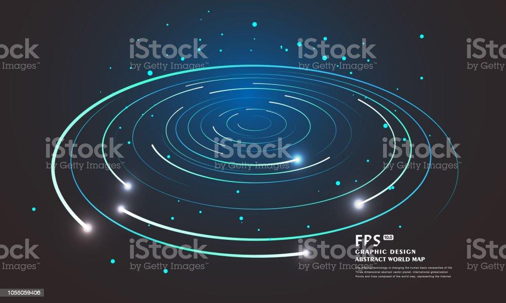 渦循環渦線を抽象化します夜空を...