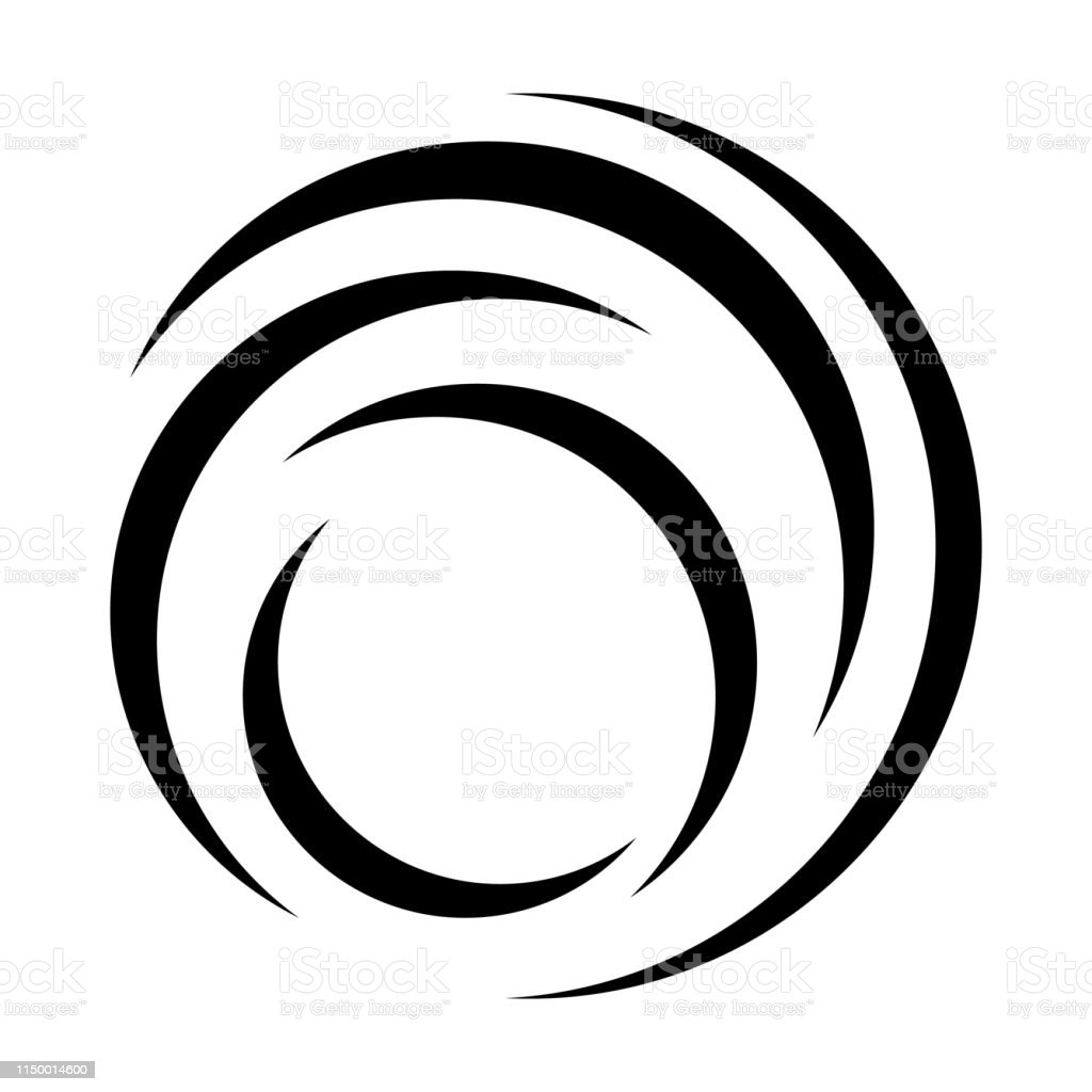 Abstract Vortex Line Vector Illustration Stock Illustration - Download  Image Now