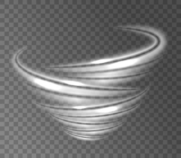 ilustrações de stock, clip art, desenhos animados e ícones de abstract vortex tornado on transparent background. effect of whirlwind, hurricane, storm twister and blizzard funnel. - storm effects