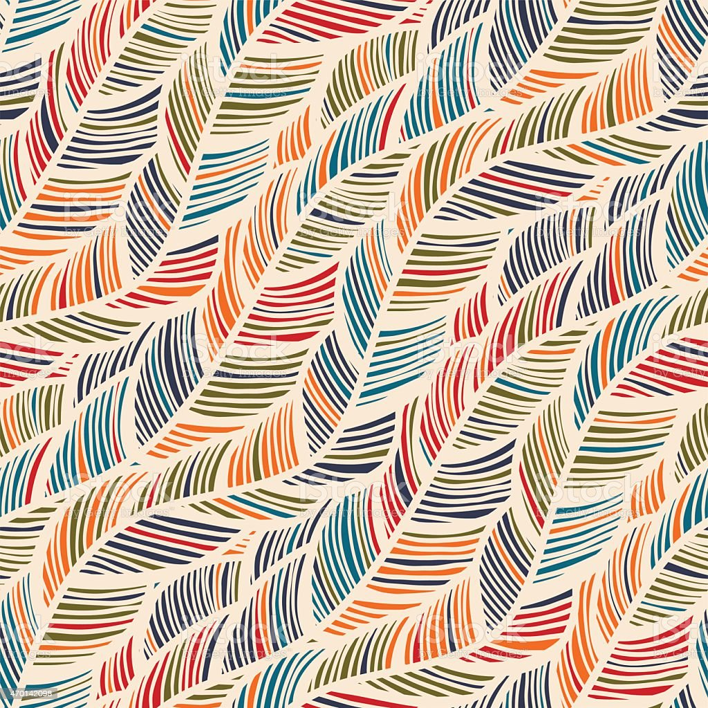 Abstract Wallpaper Pattern Of Colorful Feather Style Lines Royalty Free