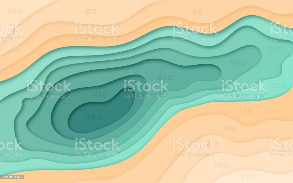 Abstract Water and Terrain