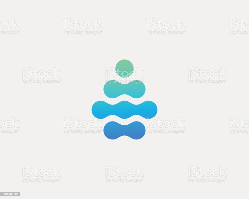 Abstract water aqua drop vector logo design. Water drop minimal space logotype.