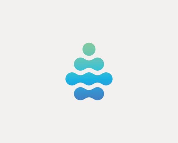 Abstract water aqua drop vector logo design. Water drop minimal space logotype. vector art illustration