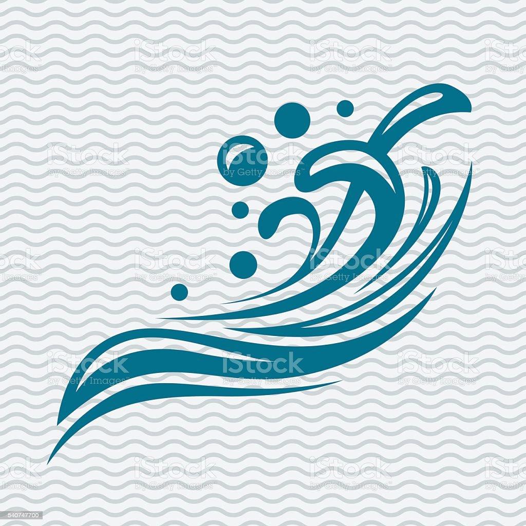 Ícone de água abstrato - ilustração de arte em vetor