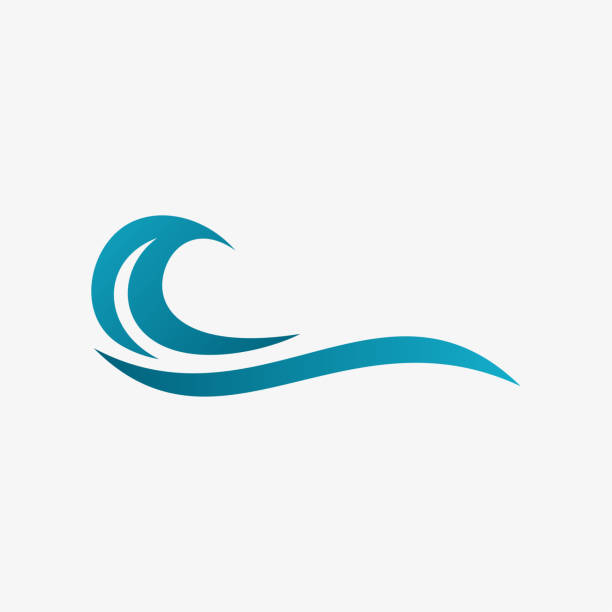 abstract water wave icon, ocean icon - holiday background stock illustrations