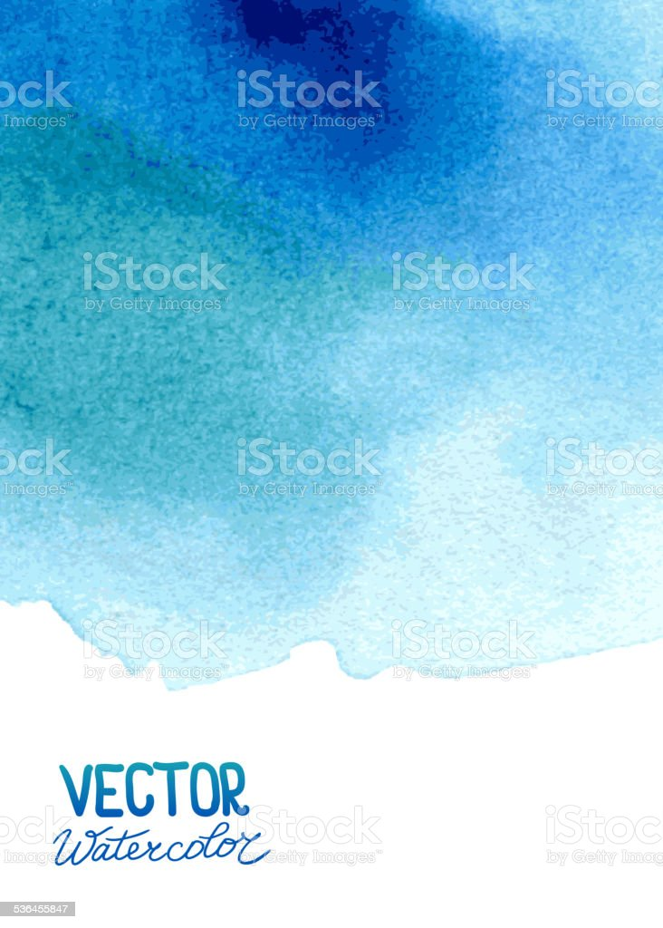 Abstract watercolor background for your design vector art illustration